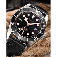 Corgeut メンズ腕時計 機械式 自動巻き 防水 自動日付 メンズファッション