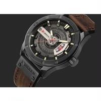 Curren メンズ腕時計 クォーツ 防水 ミリタリー レザー 海外輸入品