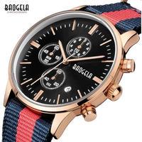 BAOGELA メンズ腕時計 クォーツ クロノグラフ 自動日付 防水 発光 海外ブランド