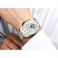 HAIQIN メンズ腕時計 機械式 自動巻き 発光 防水 メンズファッション 日本未入荷
