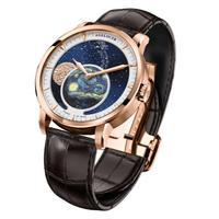Agelocer メンズ腕時計 機械式 自動巻き ムーンフェイズ 防水 高級腕時計