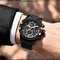 BENYAR メンズ腕時計  クォーツ 自動日付 耐衝撃 防水  クロノグラフ スポーツ 海外輸入品