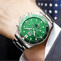 CARNIVAL メンズ腕時計 機械式 自動巻き ムーンフェイズ 自動日付 防水 発光 海外限定品