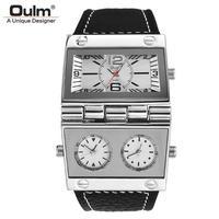 Oulm メンズ腕時計 クォーツ スポーツウォッチ ビッグダイヤル 海外ブランド