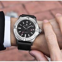 PAGANI DESIGN メンズ腕時計 クォーツ 自動日付 防水 高級腕時計