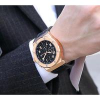BAOGELA メンズ腕時計 クオーツ クロノグラフ 防水 海外限定品