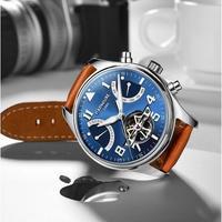 CARNIVAL メンズ腕時計 機械式 自動巻き トゥールビヨン 自動日付 防水 発光 高級腕時計