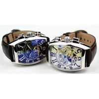 CASENO メンズ腕時計 機械式  自動巻き トゥールビヨン   クロノグラフ スケルトン 海外ブランド 海外限定