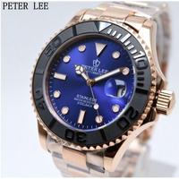 PETERLEE メンズ腕時計 機械式 自動日付 発光針 防水 高級腕時計