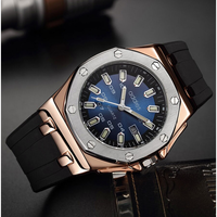 Aidis メンズ腕時計 クォーツ 自動日付 耐衝撃 発光針 耐水 バックライト 日本未発売