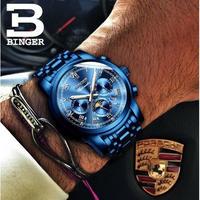 BINGER メンズ腕時計 機械式 自動巻き ムーンフェイズ 自動日付 防水