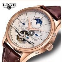 LIGE メンズ腕時計 トゥールビヨン 機械式 自動巻き 高級腕時計 人気