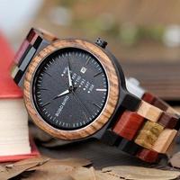 BOBO BIRD メンズ腕時計 クォーツ 木製