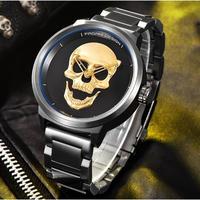 PAGANI DESIGN メンズ腕時計 クォーツ 防水 スカルデザイン 海外ブランド