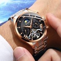HAIQIN メンズ腕時計 機械式自動巻き  防水トゥールビヨン 日本未発売
