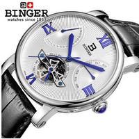 BINGER メンズ腕時計 機械式 自動巻き 防水 スケルトン トゥールビヨン 海外輸入品 海外ブランド