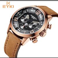 EYKI メンズ腕時計 クォーツ 防水 発光針 海外輸入品