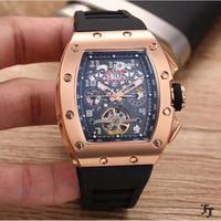 Age Girl メンズ腕時計 機械式 自動巻き トゥールビヨン 自動日付 防水 高級腕時計