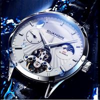 GUANQIN メンズ腕時計 海外輸入商品 ムーンフェイズ 自動巻き ウォータプルーフ