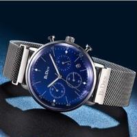 BIDEN メンズ腕時計 クォーツ クロノグラフ 自動日付 防水 発光 海外ブランド