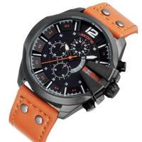 SKONE メンズ腕時計 クォーツ クロノグラフ 自動日付 防水 海外限定品