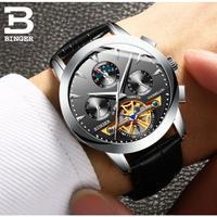 BINGER メンズ腕時計 機械式 自動巻き トュールビヨン 防水 海外輸入品 高級腕時計