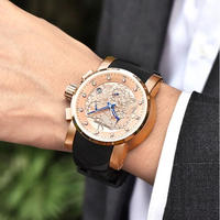 PAGANI DESIGN メンズ腕時計 クォーツ クロノグラフ 発光 自動日付 防水 海外輸入品 人気