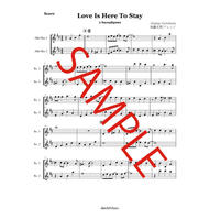 Love Is Here To Stay サックスアンサンブル
