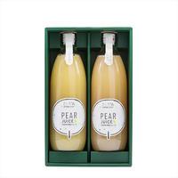 果汁100%洋梨ジュース 2本セット(ラ・フランス/シルバーベル)