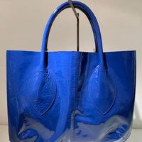 エナメルトートバッグ(Blue)