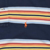 "USED ""POLO RALPH LAUREN"" BORDER POLO SHIRT"