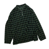 USED PLAID BOTTUN UP FLEECE