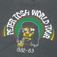 "VINTAGE 80'S ""PETER TOSH"" WORLD TOUR T-shirt"