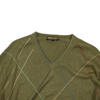 "USED ""LENOR ROMANO"" V-NECK KNIT"