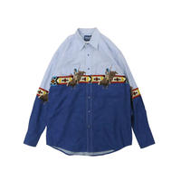 WRANGLER USED WESTERN L/S SHIRT