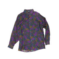"USED ""FLOWER PATTERN"" RAYON SHIRT"