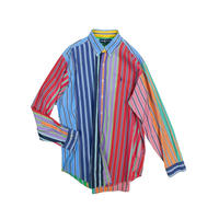 "USED ""RALPH LAUREN"" CRAZY STRIPE BD SHIRT"