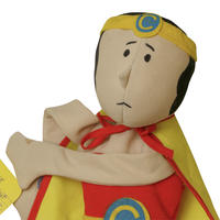 "1979 FLEMINGER ""COPELESS HERO"" BEAN BAG DOLL"
