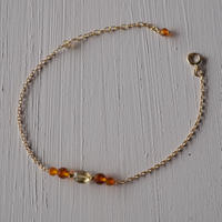 【14kgf】琥珀のブレスレット【14kgf】 Amber bracelet