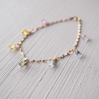 【K18】サファイアのレインボーブレスレット/Sapphire bracelet