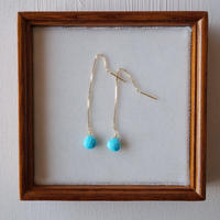【K18】スリーピングビューティーターコイズのアメリカンピアス/Sleeping beauty turquoise earrings