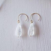 【14kgf】ムーンストーンのピアス/Moonstone earrings