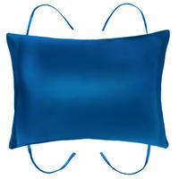 紐付き枕カバー   ピーコックブルー