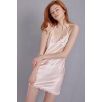 シルクスリップドレス ピンク