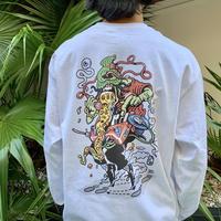 """""""ピザ雄""""Long Sleev T-shirts"""