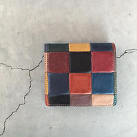 BLOCK PATCHWORK OLD MINI WALLET