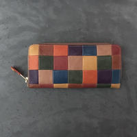 PATCHWORK ZIP WALLET LARGE