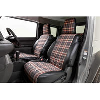 "little D. Seat Cover ""GRAY×CHECKERED"" for SUZUKI JIMNY / JIMNY SIERRA"