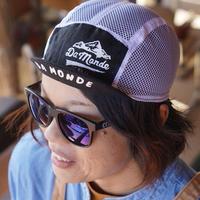 限定生産!【Cachalot x DA MONDE】 サイクル リネン メッシュ ジェットキャップ「ホワイトxブラック」
