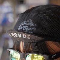 限定生産!【Cachalot x DA MONDE】 サイクル リネン メッシュ ジェットキャップ「ブラックxブラック」